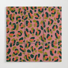 Pink Leopard Wood Wall Art