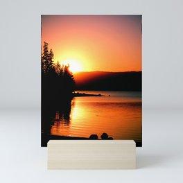 Sunset Silhoette Mini Art Print