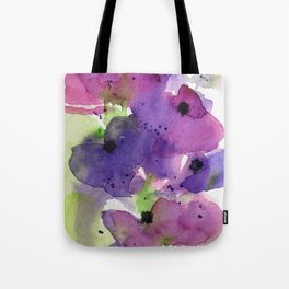 Purple Flowers in the Garden Tote Bag