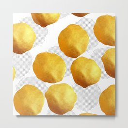 Golden Spots and Polka Dots Metal Print
