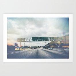 California, Los Angeles, beach, seaside, ocean, surf, downtown, Cali, SoCal Art Print