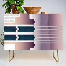 Minimalist Gradient Geometric Interlocking Abstract Structures #buyart #homedecor Credenza