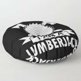 Lumberjack ax saw chainsaw forest Floor Pillow