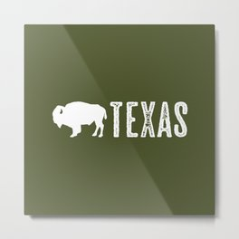 Bison: Texas Metal Print