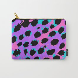 Cheetah Spots in Lavender, Blue and Pink Carry-All Pouch