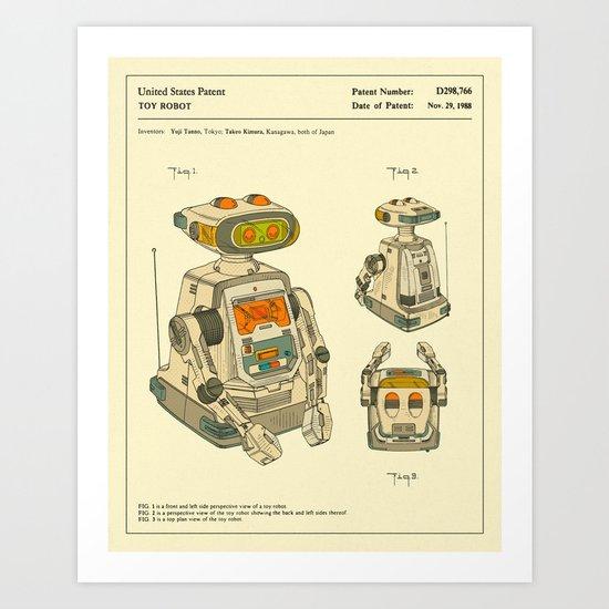 Robot Patent (1988) Art Print