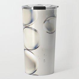 pearlescent water droplets Travel Mug