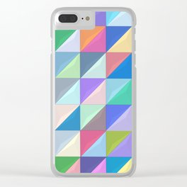 Geometric Shapes I Clear iPhone Case