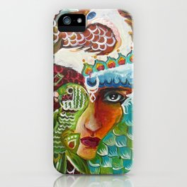 The Girl and The Bird 2 iPhone Case