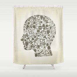Head medicine Shower Curtain