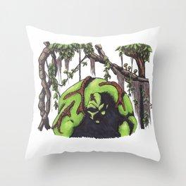 Swamp Thing Throw Pillow
