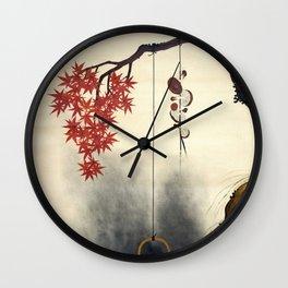Shibata Zeshin - Autumn Maple, Shiitake Mushroom, Kettle - Digital Remastered Edition Wall Clock