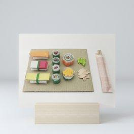 sushi paper craft art gift idea Mini Art Print