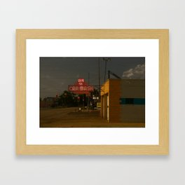 Car Wash, Route 66 Framed Art Print