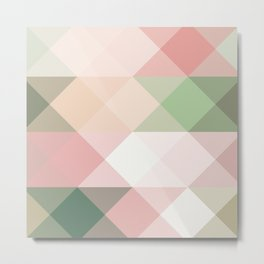 Modern blush tones pink abstract geometrical triangles Metal Print