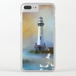 Lighthouse & Seagulls Clear iPhone Case