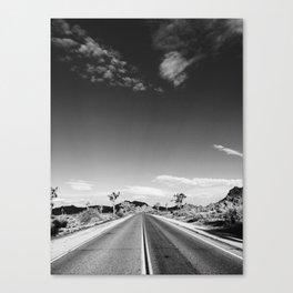 Wanderlust photograph Joshua Tree California open road, film Canvas Print