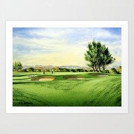 Carnoustie Golf Course Scotland 13th Green Art Print