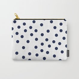 Simply Dots in Nautical Navy Carry-All Pouch
