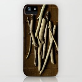 DRIFTWOOD ON WOOD GRID iPhone Case