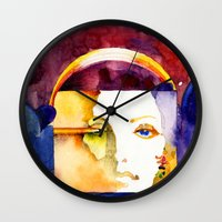 madonna Wall Clocks featuring Lady Madonna by Ecsentrik