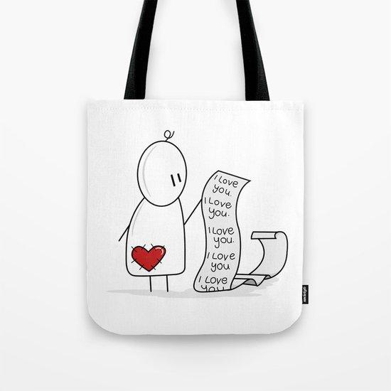 I Love You... A Lot. Tote Bag
