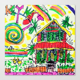 ChelleRay in Key West Canvas Print