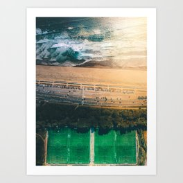Soccer Beach Art Print