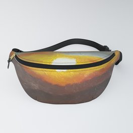 Eye of Portugal, Contemporary Oil Painting of sunset, COLORFUL Original Modern Art, Fine Art by Lu Fanny Pack