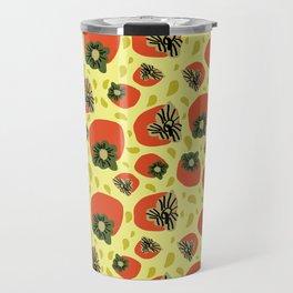 Trippy yellow persimmons Travel Mug