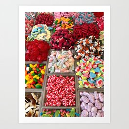 Colorful Candy Art Print