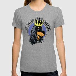 Black and tan cocker spaniel head T-shirt