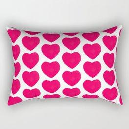 naive hearts pattern Rectangular Pillow