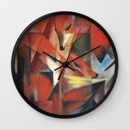 Franz Marc - The Foxes Wall Clock