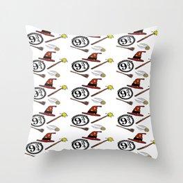 Wizard's pattern Throw Pillow