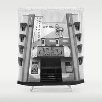 cinema Shower Curtains featuring Cinema by Chris Meiklejohn