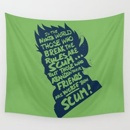 Will of Team 7 [Green] Wall Tapestry