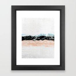 abstract minimalist landscape 10 Framed Art Print