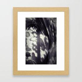 Lace Shadows Framed Art Print