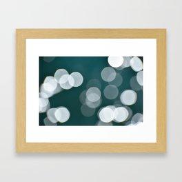 Large Ocean Bokeh Framed Art Print