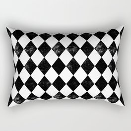Diamond - Black & White, minimal, monochrome, greyscale, nordic,  pattern,  Rectangular Pillow