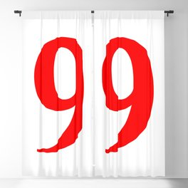 9 (RED & WHITE NUMBERS) Blackout Curtain