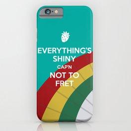 Everything's Shiny Cap'n! (Parasol) - Kaylee iPhone Case