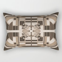 Brown Geometric Abstract Rectangular Pillow