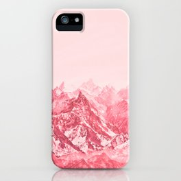 Mountains Red iPhone Case