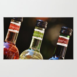 France Germany Spain Bottles of Wine Rug