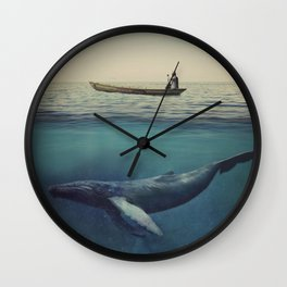 Old Sea and the Man Wall Clock