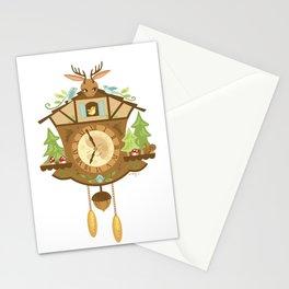 Woodland Cuckoo Clock Stationery Cards