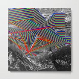 Sky and Mountains Metal Print