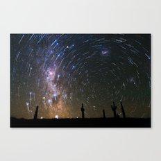 Star Trails over Atacama Desert Cacti Canvas Print